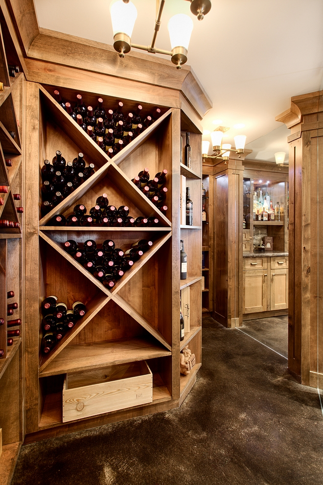 Wine Room Cabinetry Layout