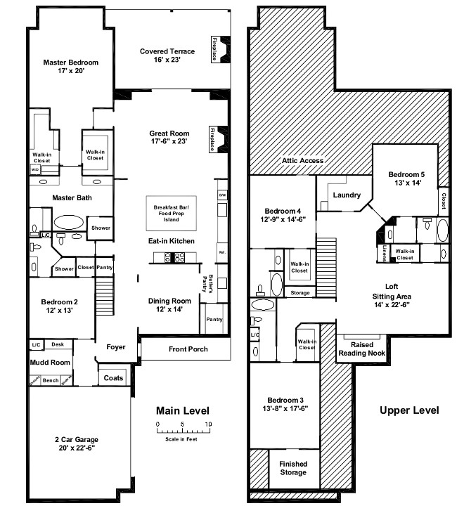 Small Lot Home Floor Plan Small Lot Floor Plan Floor plan featuring main level and upper level 4,462 Square Feet 5 Bedroom 5 and 1/2 Bath home