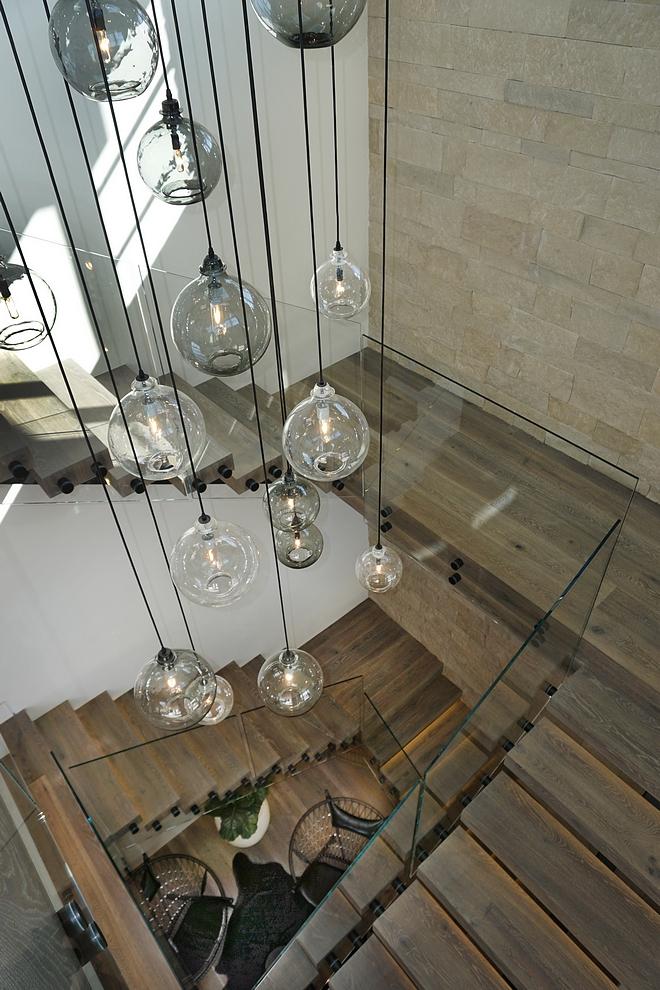 Globe Chandelier Cisco Brothers chandelier Bronze Canopy w/ Smoke and Clear Pendants - Multi Sized #globechandelier #chandelier
