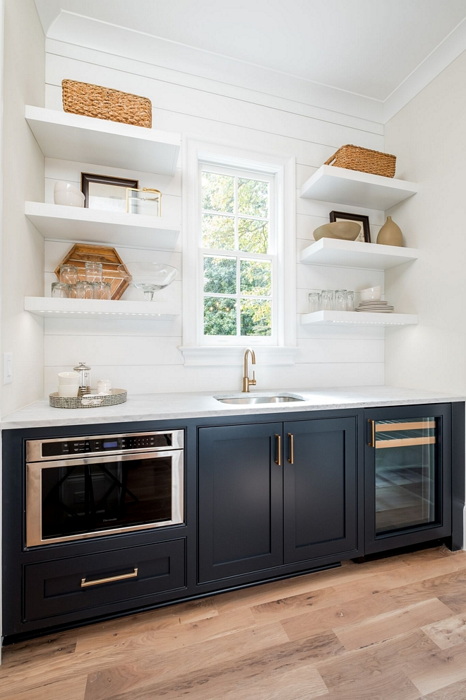 Inset Cabinet Appliance Ideas We wanted the beverage center to blend in and feel like a cabinet so we had a custom cabinet panel made for the front of it #insetcabinet #appliancecabinet