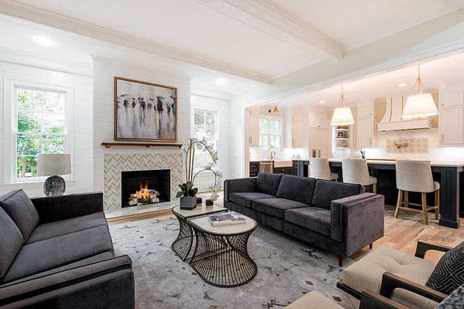 Open Living Room This is both a causal and formal living room, as is the trend today #openlivingroom