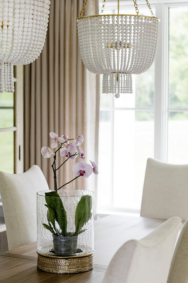 Dining Room Simple table decor hurricane with orchid instead of candle Everyday Dining Room Simple table decor ideas Dining Room Simple table decor #DiningRoom #tabledecor #DiningRoomdecor