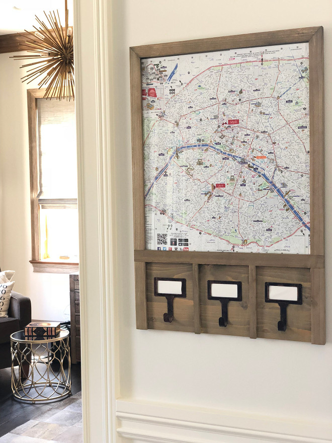Outside the office I hung the map we traveled with and used throughout Paris