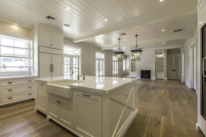Benjamin Moore OC-17 White Dove Tongue and Groove Ceilings are painted in Benjamin Moore OC-17 White Dove Benjamin Moore OC-17 White Dove Benjamin Moore OC-17 White Dove #BenjaminMooreOC17WhiteDove