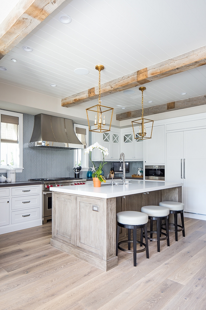 Kitchen ceiling beams Tongue and groove ceiling Kitchen ceiling features real reclaimed wood beams and Tongue and Groove #kitchenceiling #kitchen 3ceiling #reclaimedwoodbeams #reclaimedbeams #TongueandGroove