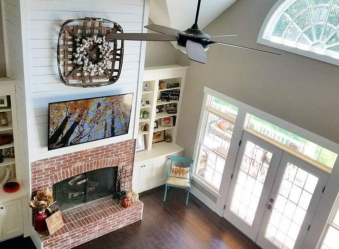 Brick and shiplap fireplace Brick and shiplap fireplace Brick and shiplap fireplace Brick and shiplap fireplace Brick and shiplap fireplace #Brickandshiplapfireplace