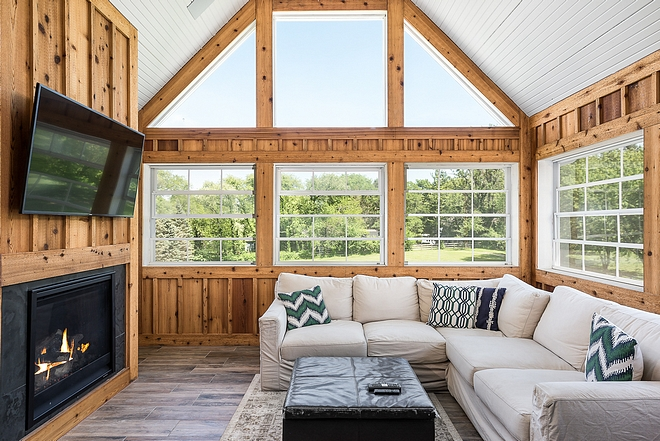 Knotty Pine Board and Batten Walls are board and batten in Knotty Pine Knotty Pine Board and Batten Knotty Pine Board and Batten #KnottyPine #BoardandBatten
