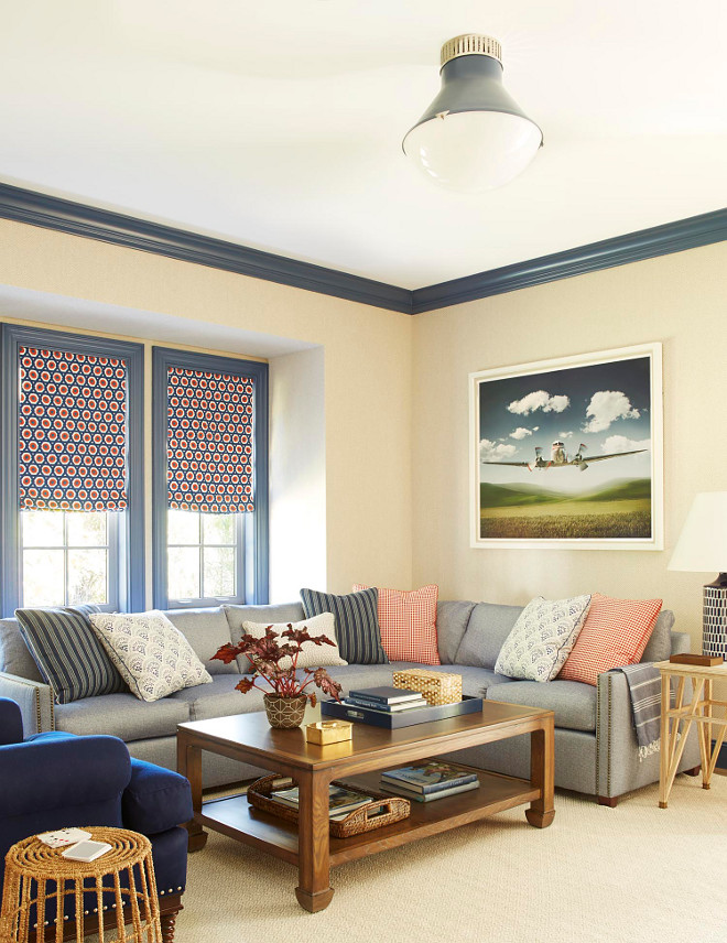 Navy Blue Trim Paint Color Benjamin Moore 840 Kensington Blue Navy Trim Paint Color Benjamin Moore 840 Kensington Blue #TrimPaintColor #BenjaminMoore840KensingtonBlue
