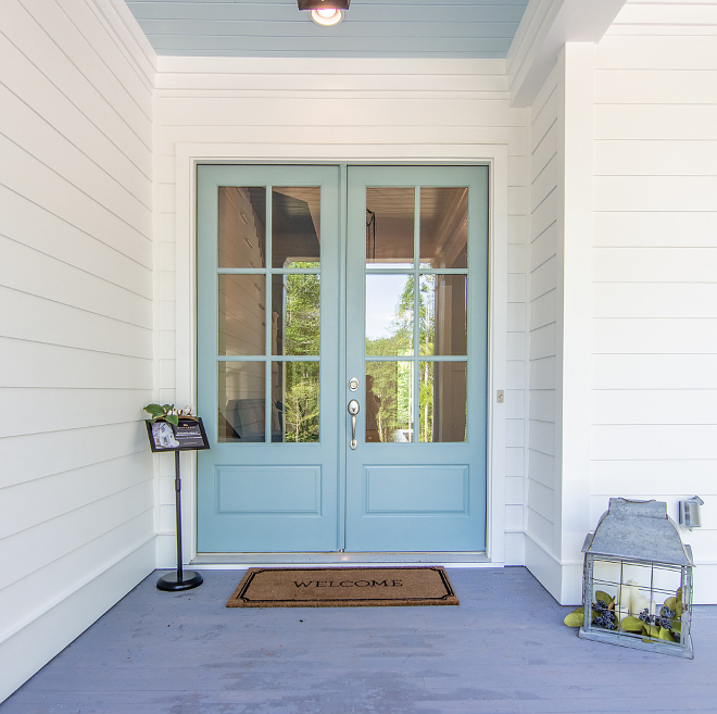 Sherwin Williams Interesting Aqua front Door Paint Color Sherwin Williams Interesting Aqua Sherwin Williams Interesting Aqua #SherwinWilliamsInterestingAqua