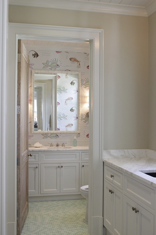 Kids bathroom wallpaper Wallpaper is Voutsa Fish wallpaper Kids bathroom wallpaper #Kidsbathroom #wallpaper