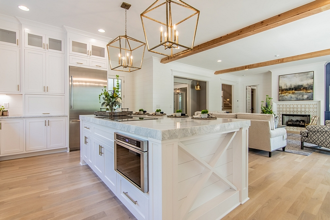 Kitchen island featuring a timber X ends White Kitchen island featuring a timber X ends Kitchen island featuring a timber X ends #Kitchenisland #kitchenislandXends