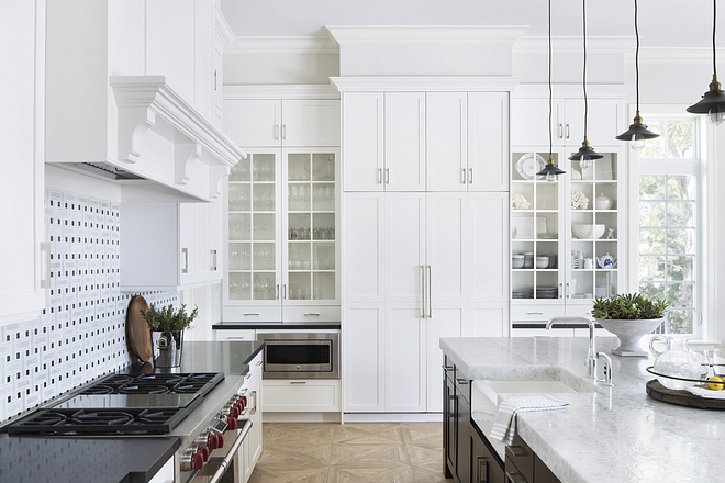 Kitchen cabinets are Benjamin Moore OC-17 White Dove Kitchen cabinets are Benjamin Moore OC-17 White Dove #Kitchencabinets #BenjaminMooreOC17WhiteDove
