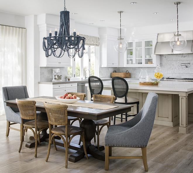 Kitchen and dining Room Open concept Kitchne classic cabinetry with the mitered edge countertops Kitchen and dining Room Open concept Kitchne classic cabinetry with the mitered edge countertops #Kitchen #diningRoom #Openconcept #Kitchne #cabinetry #miterededgecountertop