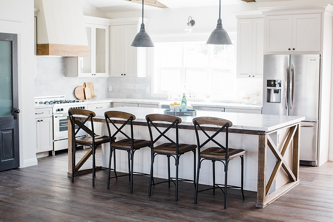 Farmhouse kitchen island with shiplap and barnwood White Farmhouse kitchen island with shiplap and barnwood Farmhouse kitchen island with shiplap and barnwood #Farmhouse kitchen island with shiplap and barnwood
