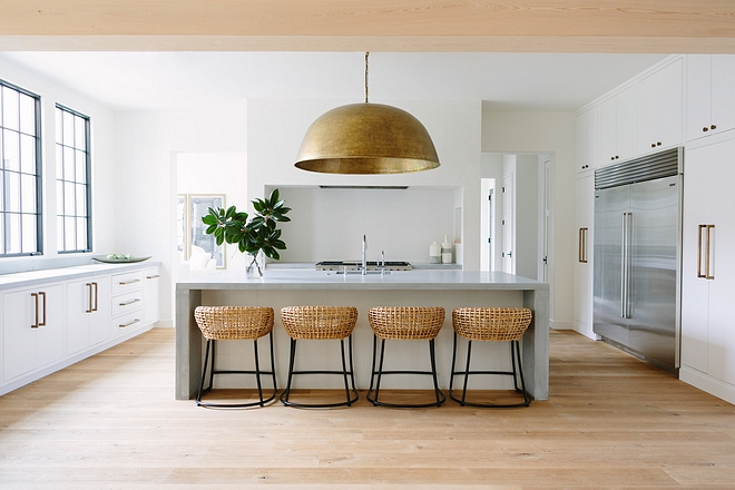 Kitchne Transitional kitchen The kitchen is defined by its clean lines, concrete countertops and hand forged hardware #kitchne #kitchen #Transitionalkitchen