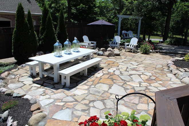Flagstone Patio Design Flagstone Patio Design #FlagstonePatio #FlagstonePatioDesign
