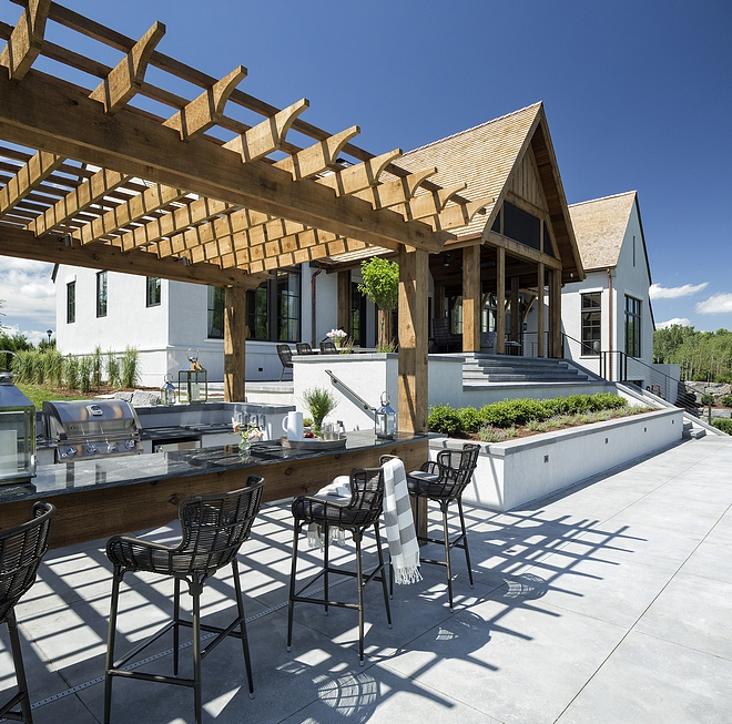 Outdoor kitchen pergola Outdoor kitchen pergola Cedar pergola #Outdoorkitchenpergola #cedarpergola
