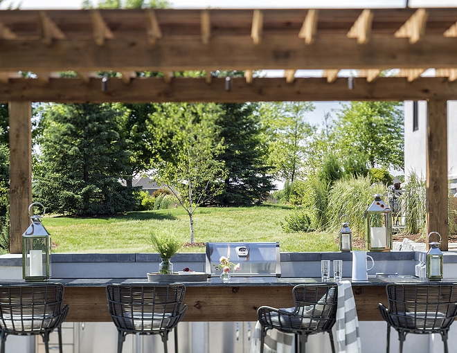 Outdoor pergola done in Cedar