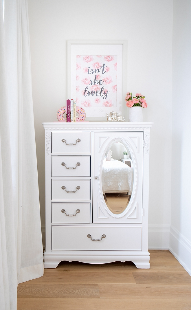Daughters bedroom dresser decor ideas