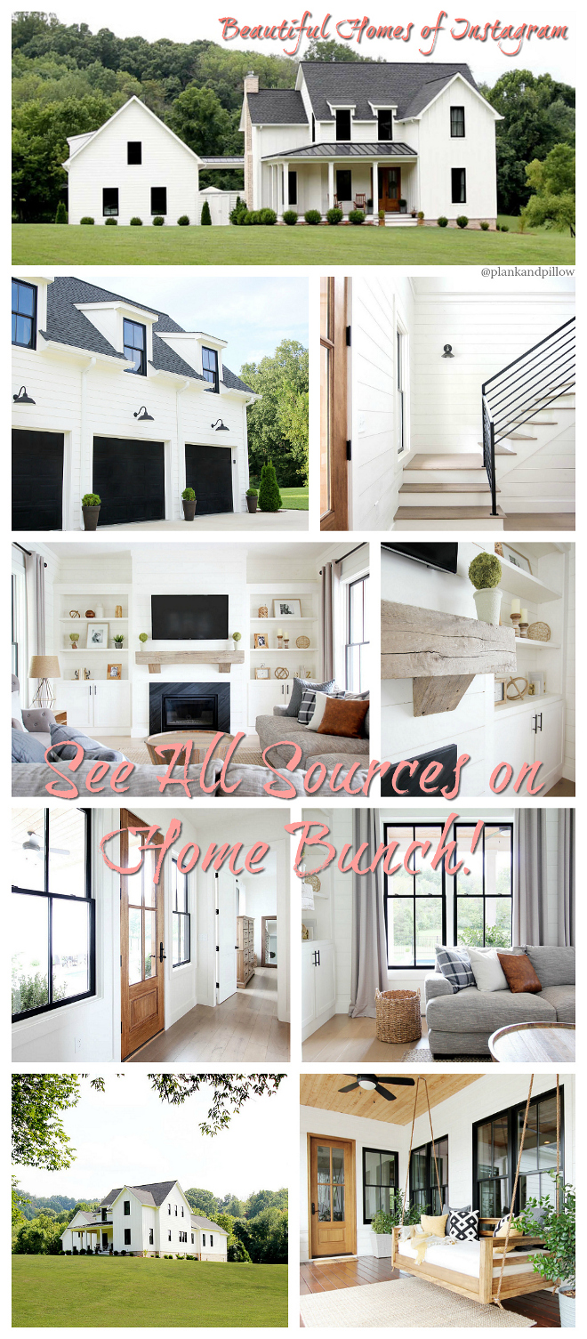 Home Bunch's series Beautiful Homes of Instagram Modern Farmhouse