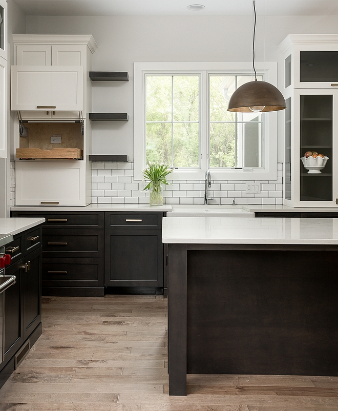 Kitchen garage appliance A well-designed appliance garage is found on the left, just above the bread compartment This is the ideal place to hide the toaster Notice the electric outlet inside the cabinet #kitchen #appliancegarage
