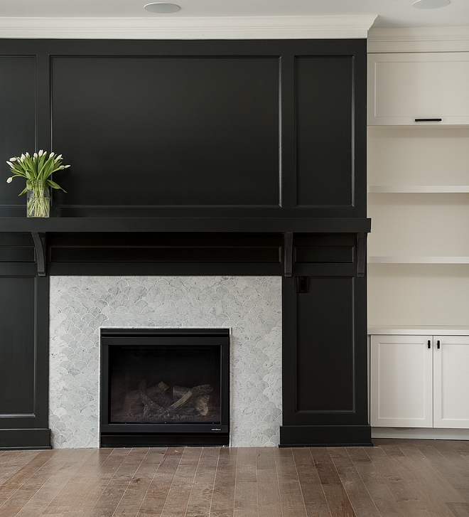 Sherwin Williams SW 7674 Peppercorn Fireplace Paneling Paint Color Sherwin Williams SW 7674 Peppercorn Black Fireplace Paneling Paint Color Sherwin Williams SW 7674 Peppercorn #SherwinWilliamsSW7674Peppercorn #FireplacePaneling