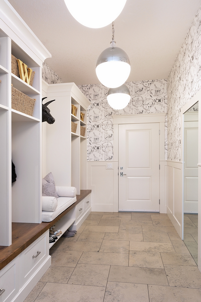 Mudroom Cubbies We followed the advice of our interior designer, who told us to always put your kids cubbies furthest from the door – there's nothing worse than a toddler sitting on the floor to take off their shoes while you have your arms full of groceries #mudroom #mudroomcubbies