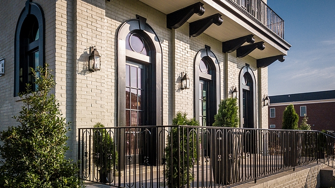 Brick siding is very popular right now but it's definitely a classic choice The exterior trim is painted in PPG Pitt-tech satin black #exteriorbrick #brick #siding #bricksiding #exteriortrim