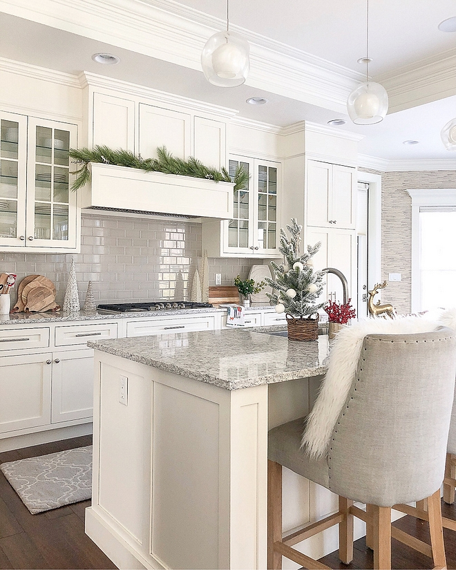 Kitchen cabinet paint color is Benjamin Moore OC-17 White Dove