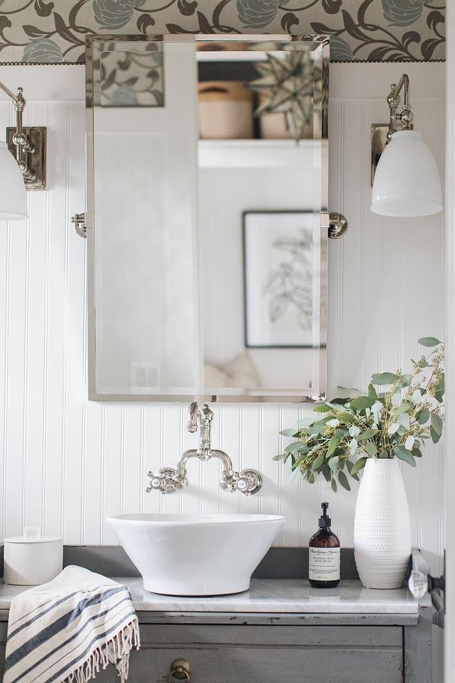 Bathroom Mirror Bathroom Mirror with vessel sink #BathroomMirror #bathroom #mirror