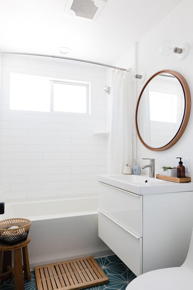 Guest Bathroom renovation This space is such a mix of high and low #bathroomreno #guestbathroom #smallbathroom #bathroom #reno