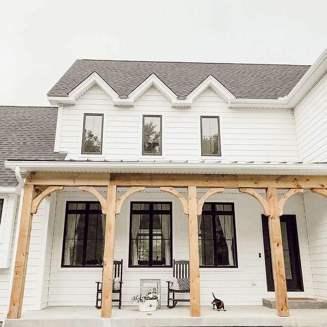 Timber Porch Posts Farmhouse exterior with Timber Porch Posts Rustic farmhouse Timber Porch Posts Timber Porch Posts Timber Porch Posts #Farmhosue #rusticfarmhouse #TimberPorchPosts #TimberPosts #porch