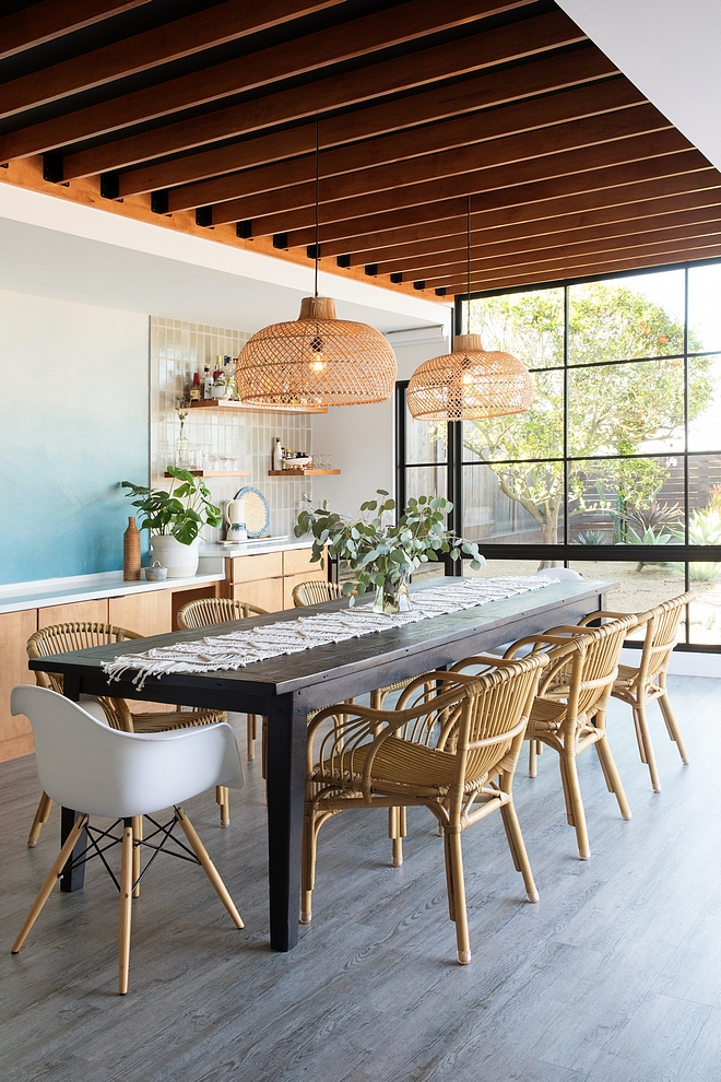 "Dining Room Modern Dining Rooms Often times, ""dining rooms"" take on a stigma- think formal dining spaces of the 1980s'…. but this is certainly not the case with ours. We wanted the space to feel like a true indoor/outdoor room and not lose our view to the outside #diningroom #moderndiningroom"