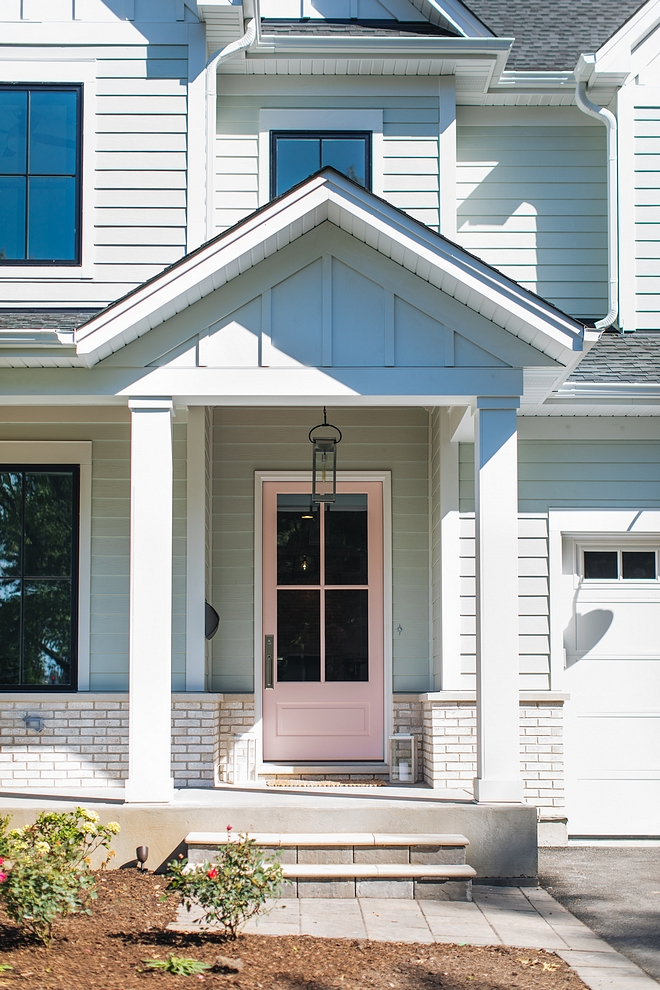 Sherwin Williams SW 6316 Rosy Outlook Millennial Pink Front Door Millennial Pink Front Door Paint Color Millennial Pink Front Door #MillennialPink #FrontDoor #SherwinWilliamsSW6316RosyOutlook #SherwinWilliamsSW6316 #SherwinWilliamsRosyOutlook