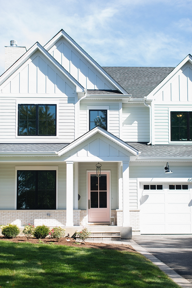 White Siding The white siding, including board and batten, are James Hardie Arctic White #witesiding #boardandbatten #siding #boardandbatten #JamesHardieArcticWhite #JamesHardiesiding #Hardie