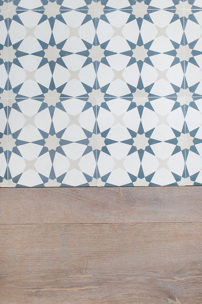 Cement Tile Shop Atlas III in Cadet, pacific White and Linen