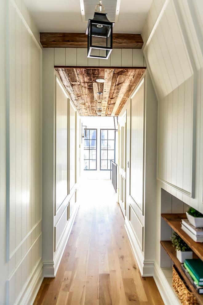 Reclaimed Plank Ceiling reclaimed wood Hallway with plank ceilings and paneled walls Reclaimed Plank Ceiling reclaimed Reclaimed shiplap planks Reclaimed Plank Ceiling reclaimed wood #ReclaimedPlankCeiling #ReclaimedPlanks #reclaimedshiplap #paneling #panels