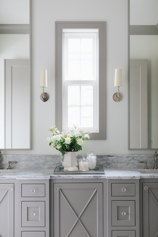 Benjamin Moore Ozark Shadows Grey Bathroom Cabinet Paint Color Benjamin Moore Ozark Shadows Benjamin Moore Ozark Shadows Benjamin Moore Ozark Shadows #BenjaminMooreOzarkShadows #GreyCabinet #paintcolor