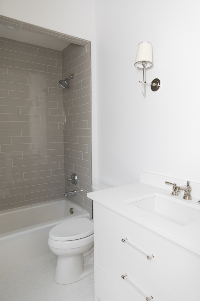 Guest Bathroom with grey subway tile