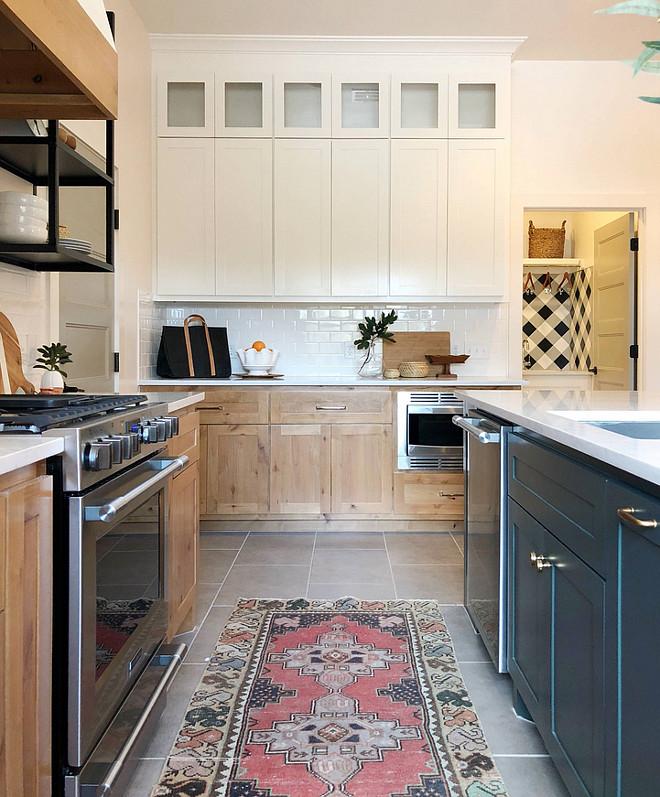 Vintage Runner Kitchen featuring Vintage Runner oven grey tile Kitchen tile Grey Concrete looking porcelain tile #Kitchen #VintageRunner #greytile #Kitchentile #Concretelookingtile #porcelaintile