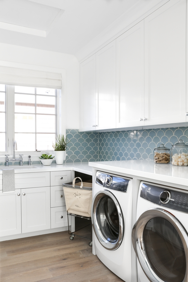 Laundry room Cabinet Laundry room Cabinetry Frameless, Shaker Cabinets, painted in Dunn Edwards DE6352 December Sky #Laundryroom #Cabinet #Laundryroomcabinet #Cabinetry #ShakerCabinets #DunnEdwardsDE6352DecemberSky