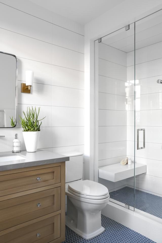 Shiplap style Tile Bathroom white shiplap tile Batrhoom shiplap tiled walls white shiplap tile #whiteshiplaptile #ShiplapstyleTile #ShiplapTile #bathroomshiplap #bathroomshiplaptikle #showershiplap #shiplapshower