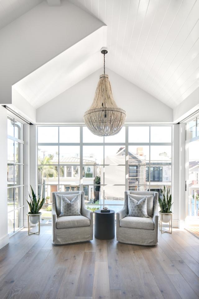 White Metal Windows Bedroom with floor to ceiling White Metal Windows White Metal Windows #WhiteMetalWindows #MetalWindows