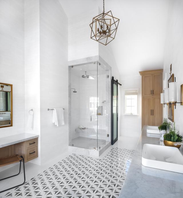 "Bathroom tile rug Floor Insert Rug Artistic Tile Duomo Grey, honed Perimeter Floor Tile 12x24"" Thassos, honed Bathroom tile rug #Bathroom #tilerug"