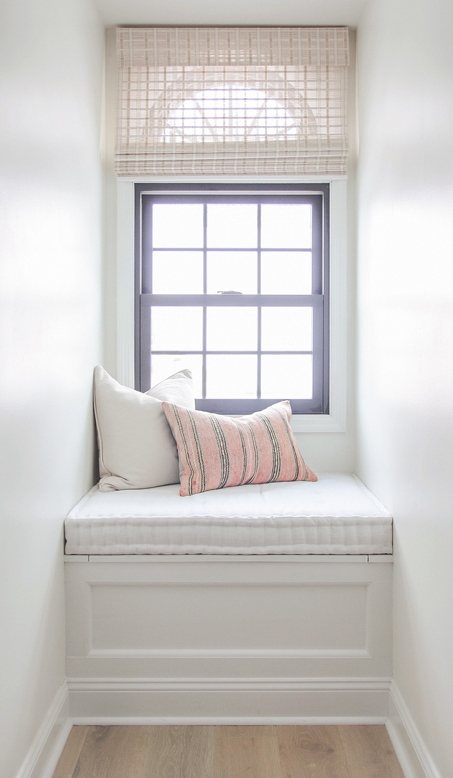 Reading Nook Window Seat The dormer window was empty when bought the home, and I built in the window seat the first fall we lived here, and it serves as a great place to relax and look out the window or read a book Reading Nook Window Seat #ReadingNook #WindowSeat