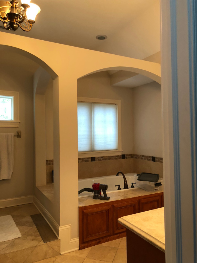 Bathroom before renovation and after pictures