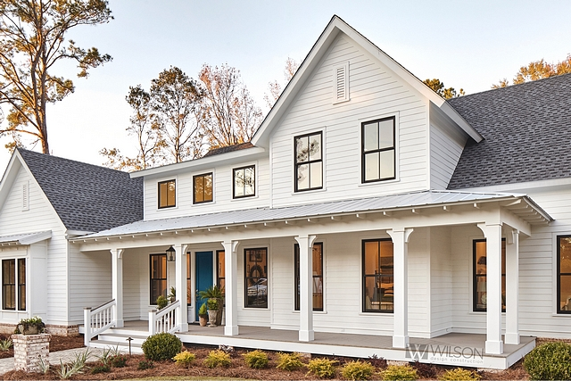 Modern farmhouse roof trend combination of shingles and metal roof on porch alcove Modern farmhouse roof trend combination of shingles and metal roof on porch ideas Modern farmhouse roof trend combination of shingles and metal roof on porch #Modernfarmhouse #farmhouseroof #farmhousetrend #roofcombination #shinglesandmetalroof #porchmetalroof