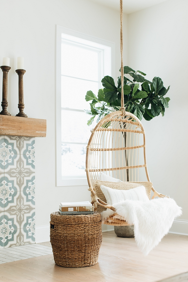 Hanging chair Can you imagine how fun it would be to have a pair of hanging chairs in your home #hangingchair #chair #Rattanhangingchair