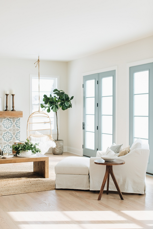 Benjamin Moore James River Gray French door paint color Benjamin Moore James River Gray Benjamin Moore James River Gray French doors Benjamin Moore James River Gray Benjamin Moore James River Gray #BenjaminMooreJamesRiverGray #Frenchdoors
