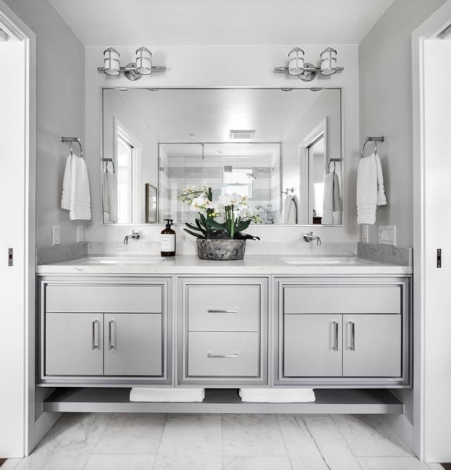 Sherwin Williams SW 6255 Morning Fog Grey Bathroom Cabinet Paint Color Sherwin Williams SW 6255 Morning Fog Sherwin Williams SW 6255 Morning Fog #SherwinWilliamsSW6255MorningFog #SherwinWilliamsSW6255 #SherwinWilliamsMorningFog